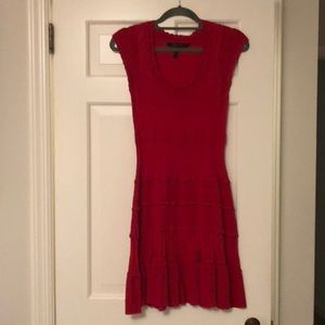 BCBG fit and flare light sweater dress